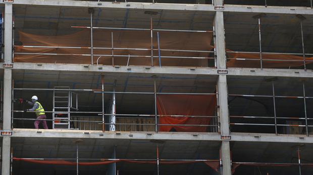The survey found that construction activity rose sharply last month
