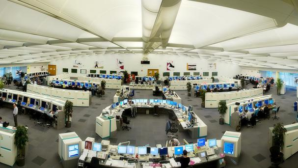 The air traffic control centre at Swanwick, Hampshire