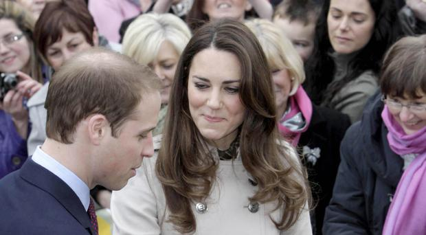 William and Kate on a previous visit to Northern Ireland