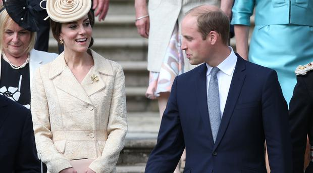 The Duke and Duchess of Cambridge attend a garden party at the royal residence at Hillsborough Castle, Co Down.