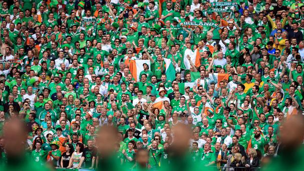 Republic of Ireland fans sang