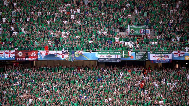 Northern Ireland fans are leaving Nice and heading to Lyon
