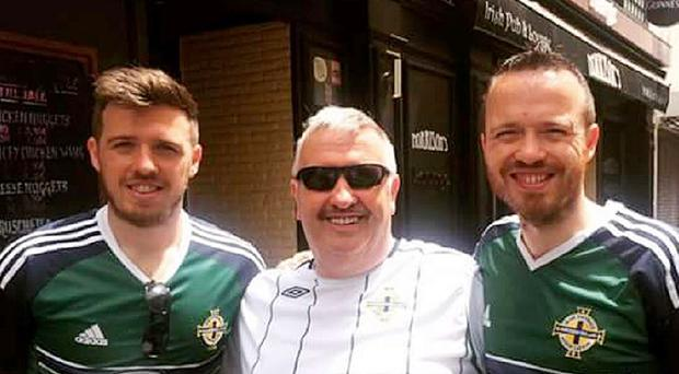 Alan Moorland (left) with his father Harry and Alan's brother Peter, as Harry, a Christian missionary who left the loyalist heartland of Rathcoole to spread the Bible in Cork, has followed Northern Ireland to France