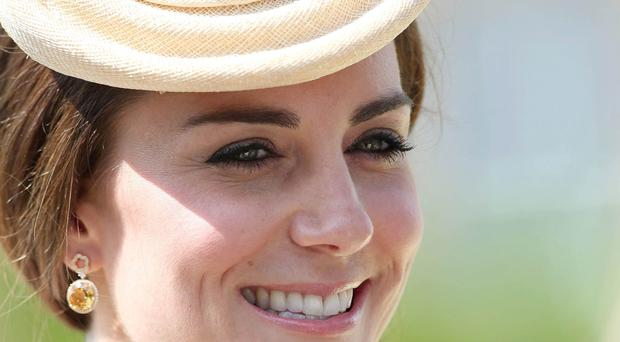 Duchess of Cambridge at the annual garden party in Hillsborough Castle yesterday