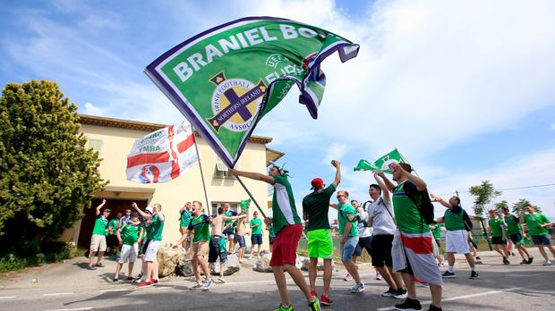 Some Northern Ireland fans got stranded in Nice due to travel disruption caused by strike action by French workers