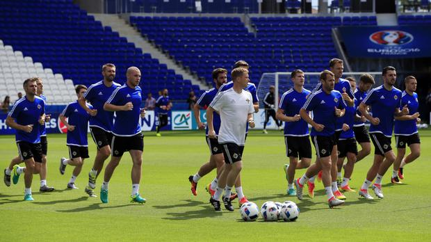 Northern Ireland players training in Lyon