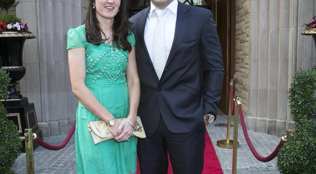 Rory Best with his wife Jodie