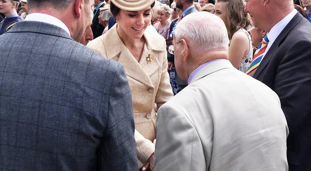 Kate and Will enthralled by 91 year-old Belfast man's story of near-death experience