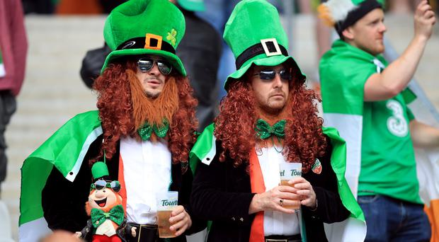 Irish fans are gathering in Bordeaux ahead of their side's clash with Belgium on Saturday