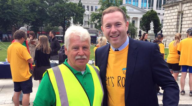 Sammy Douglas and Sinn Fein's Chris Hazzard