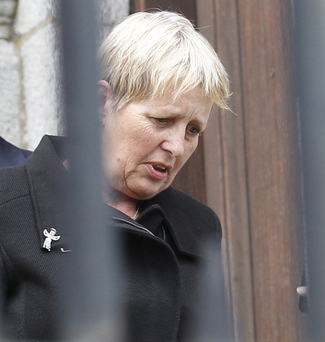 Karen Hasson at court yesterday