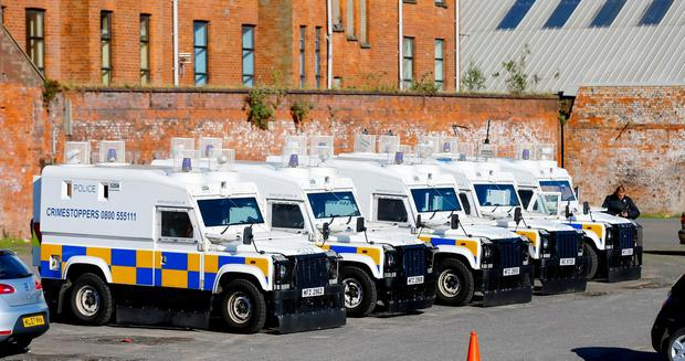 ATO and Police carrying out searches ahead of the Tour of the North in Belfast , Northern Ireland ( Photo by Kevin Scott / Belfast Telegraph)