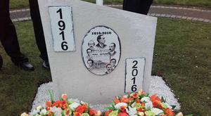 The illegal 1916 memorial which was removed by the Mid and East Antrim Borough Council in Carnlough overnight