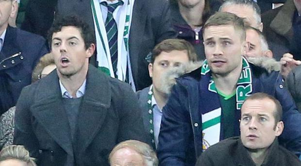 Rory McIlroy and Carl Frampton witness Northern Ireland qualify for the Euros with that famous win over Greece in October last year