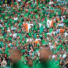 Republic of Ireland fans were in Bordeaux to see their team take on Belgium