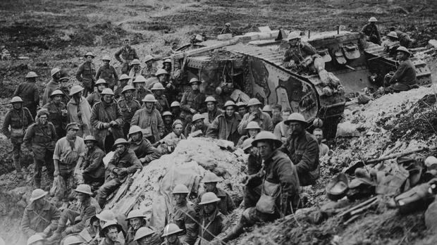 Troops at the Battle of the Somme