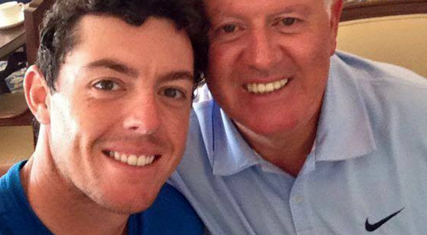 Rory McIlroy with his dad Gerry