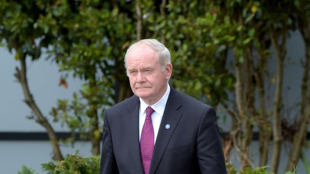 Martin McGuinness pointed out that Ireland's rugby and cricket teams played on an all-island basis and suggested footballers should form one united team too