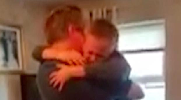 Zak McGall is overcome with emotion after his dad Richard breaks the news that they would be heading off to France for the Ukraine game
