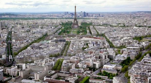 The view above Paris