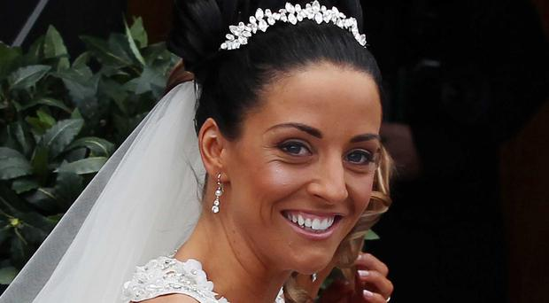 McCourt's wife Laura on her wedding day in 2011 in Derry