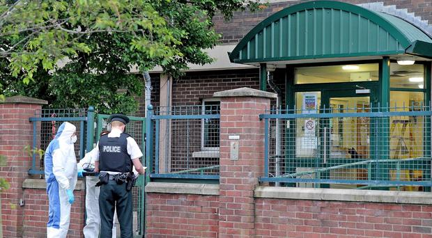 An army bomb disposal team along with PSNI forensic experts carried out a search at Maeve House in the New Lodge area of north Belfast on Monday June 20 following what is believed to be the discovery of bomb making equipment and a terrorist explosives find. Alan Lewis- PhotopressBelfast.co.uk