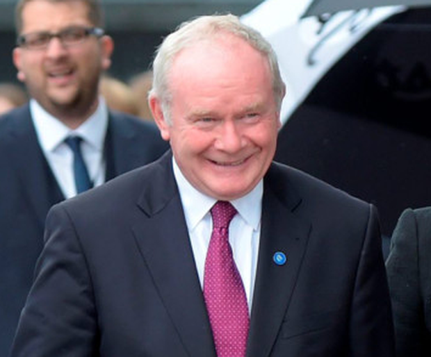 Excited: Martin McGuinness