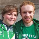 Lucile Berset and Richie O'Farrell