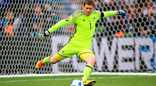 0b06f8ecf09 Northern Ireland goalkeeper Michael McGovern during the UEFA Euro 2016,  Group C match at the