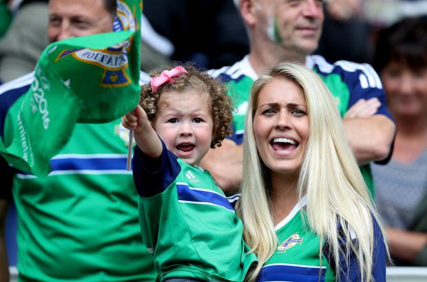 Jonny Evans' wife Helen and daughter Lottie