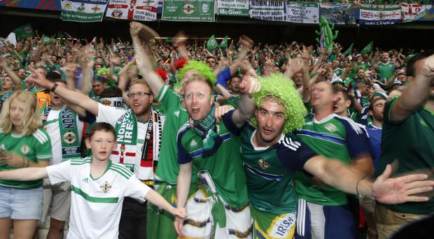 Northern Ireland's Green and White Army was still busy celebrating qualification in France