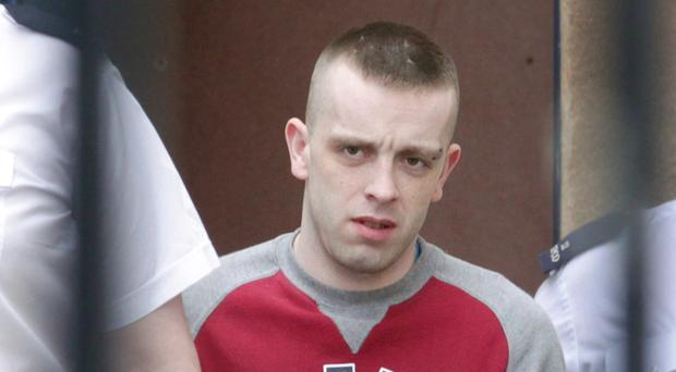 Bernard Cooke is taken from Londonderry court after being sentenced for child sex offences