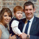 Michael McGovern his wife Leann and son Kieran