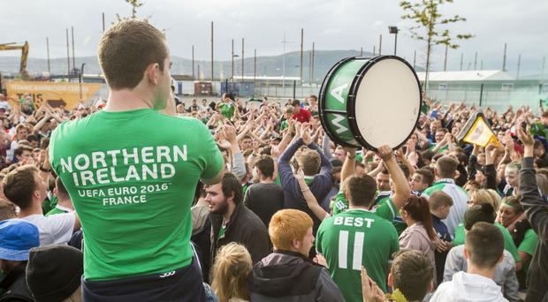 An alternative fanzone has been set up for football supporters in Belfast so they can follow the fortunes of Northern Ireland the Republic of Ireland in the knock-out stages of Euro 2016