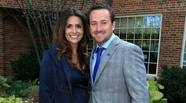 Graeme McDowell and wife Kristin. Photo by David Cannon/Getty Images
