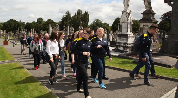 Young people taking part in the Somme centenary pilgrimage