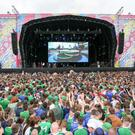 The original fanzone at Titanic Quarter.