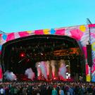 Pictured is Bring Me The Horizion during Belsonic on the Titanic Slipways in Belfast , Northern Ireland ( Photo by Kevin Scott / Belfast Telegraph)