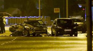 The scene of the crash on the Saintfield Road near Lisburn in 2014 in which Conal Daly was killed