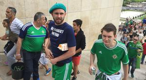 Northern Ireland and Wales fans in Paris before their teams' Euro 2016 knockout clash