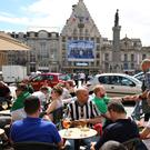 Ireland fans relaxing in Lille