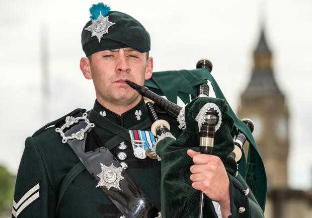 Lance Cpl Richie Spence will play a lament at Westminster Abbey