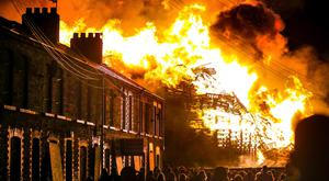The controversial Chobham Street bonfire last year