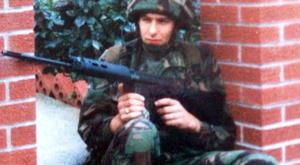 Mark Harmson serving in Northern Ireland in the 1980s