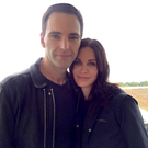 A picture tweeted by Courtney Cox of herself and Snow Patrol's Johnny McDaid after their arrival in the Republic, where she is due to film in Kerry with Co Down-born adventurer Bear Grylls