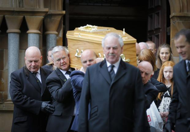 The funeral of boxer Freddie Gilroy at Holy Cross Church, Belfast