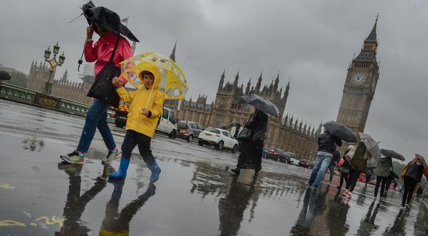 The wet and dreary weather is in stark contrast to July 1 2015