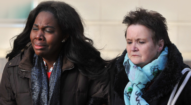 Matthew Goddard's wife Maureen and his mother at court yesterday