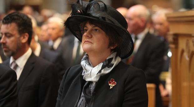 First Minister Arlene Foster at the service in St Anne's Cathedral