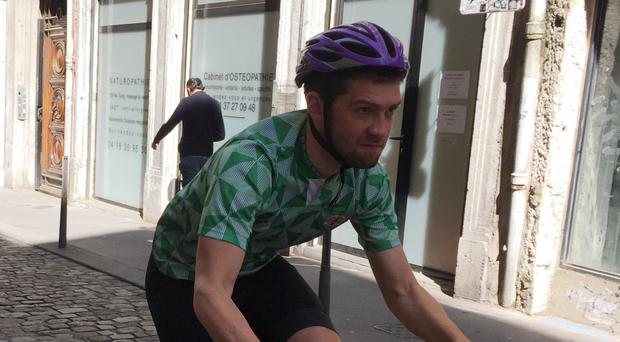 Doctor Stephen Collins cycled the length of France as he followed Northern Ireland's progress in Euro 2016